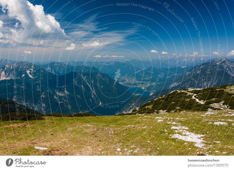 kurz vorm Absprung Himmel Natur Ferien & Urlaub & Reisen Sommer Sonne Landschaft Ferne Berge u. Gebirge Freiheit Zufriedenheit Idylle wandern Erfolg Ausflug