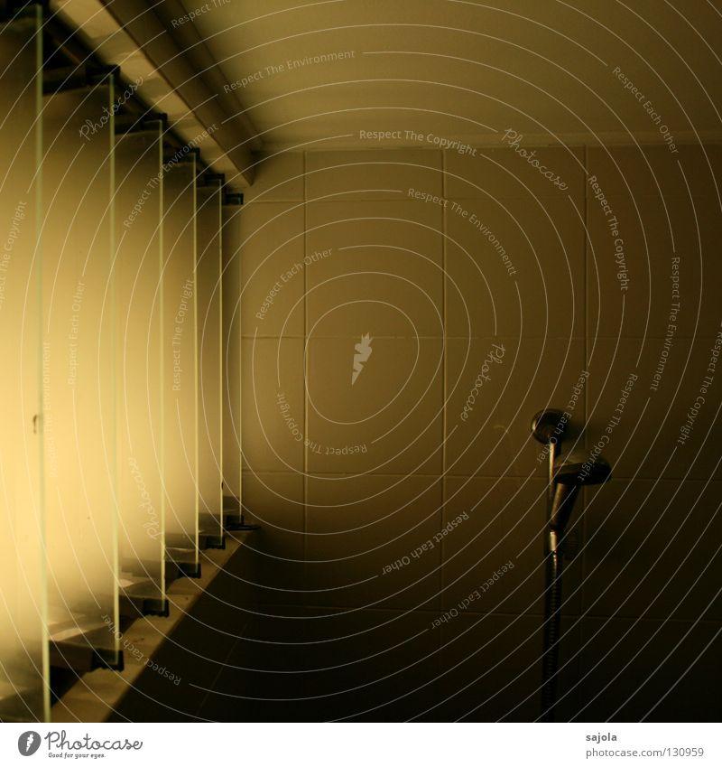 alte dusche Wand Fenster hell Bad Fliesen u. Kacheln Dusche (Installation) Lamelle Lichteinfall Duschkopf Duschschlauch