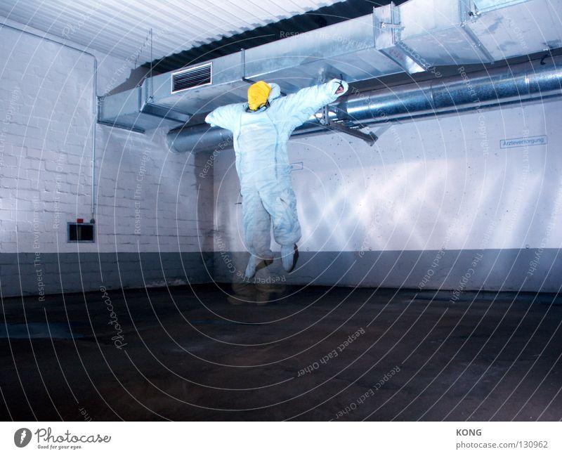 greysus™ Geschwindigkeit grau-gelb springen Anzug Schutzanzug hüpfen fliegen verdunkeln hellbraun Blindflug Arbeitsanzug Schweben Garage Tiefgarage Parkhaus