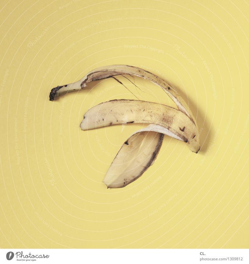 sprung Lebensmittel Banane Ernährung Essen Bioprodukte Vegetarische Ernährung Diät Fasten Gesunde Ernährung Müll Gesundheit lecker gelb Farbfoto Innenaufnahme