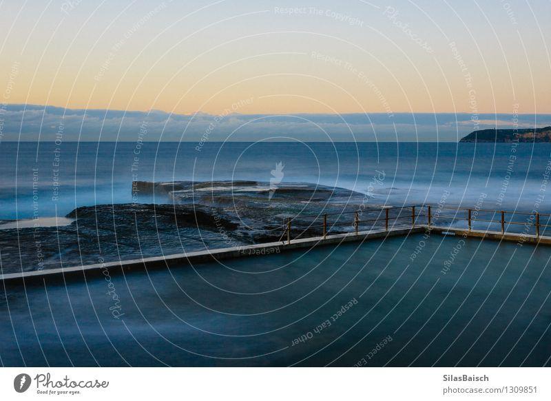 Aussen Pool Lifestyle Reichtum Stil Design Umwelt Natur Landschaft Wellen Küste Strand Bucht Fjord Nordsee Meer Insel Schwimmbad Abenteuer entdecken Erfolg