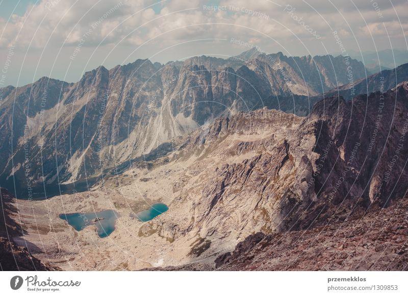 Berglandschaft in Tatras Natur Landschaft Wolken Berge u. Gebirge Felsen Abenteuer Höhe Berghang breit