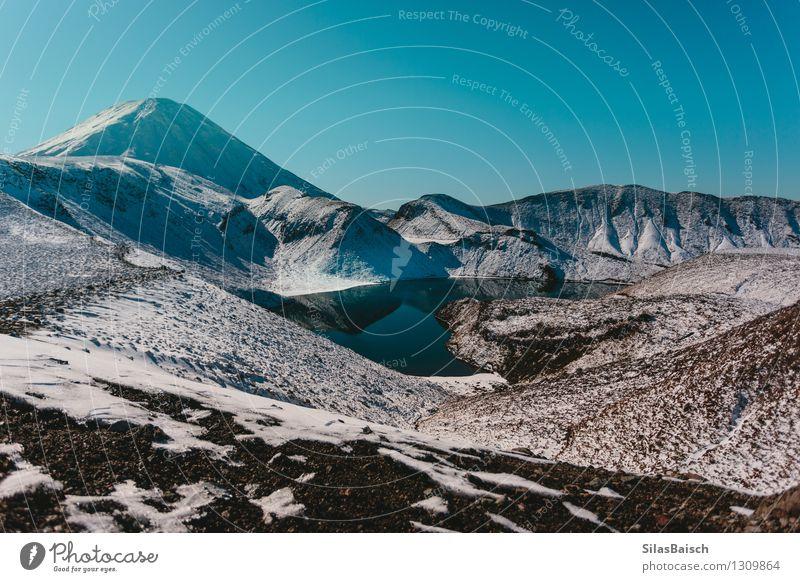 Snowy Mountains in Neuseeland III Natur Ferien & Urlaub & Reisen Landschaft Ferne Berge u. Gebirge Umwelt Schnee Freiheit See Felsen Eis wandern Ausflug
