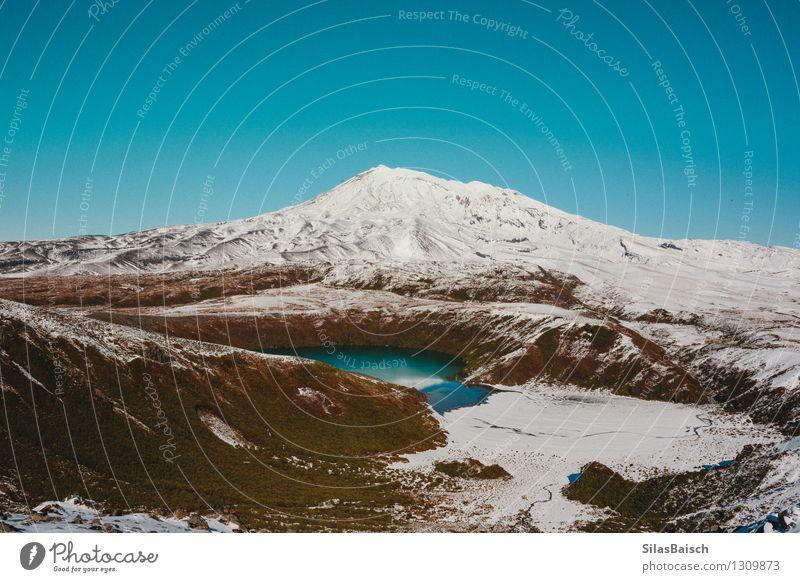Mountain Lake in Neuseeland Ferien & Urlaub & Reisen Ausflug Abenteuer Ferne Freiheit Expedition Camping Winter Schnee Winterurlaub Berge u. Gebirge Umwelt