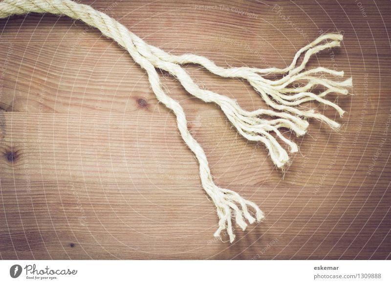 aufdröseln Seil Natur Holz Zeichen Linie drehen Tauziehen einzigartig natürlich stark viele braun Kraft Einigkeit Solidarität Verlässlichkeit Beginn