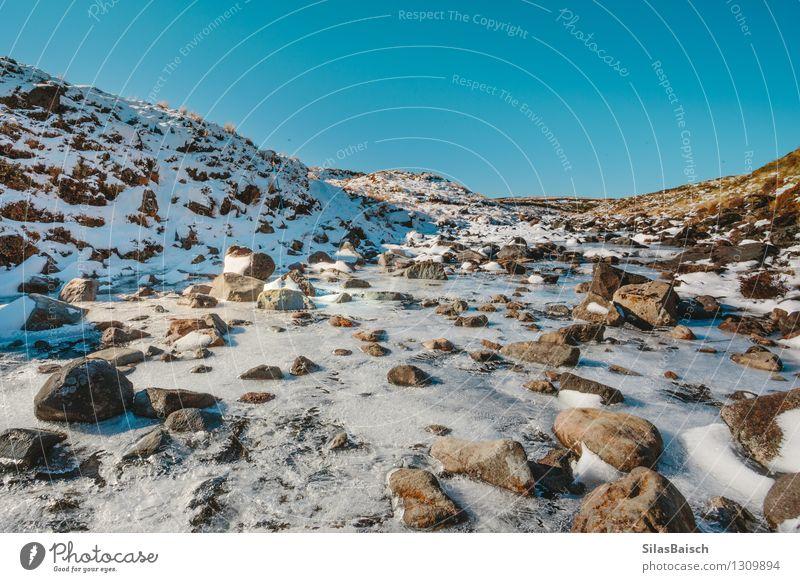 Gebirgsfluss Natur Ferien & Urlaub & Reisen Landschaft Ferne Winter Berge u. Gebirge Umwelt Schnee Felsen Schneefall Eis Tourismus Ausflug Schönes Wetter