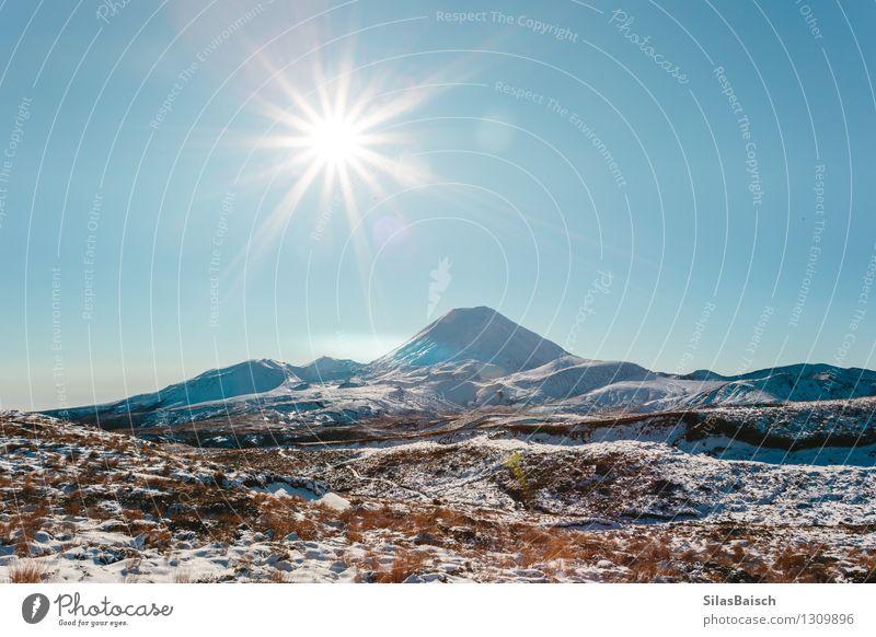 Natur Ferien & Urlaub & Reisen Sonne Landschaft Ferne Winter Berge u. Gebirge Schnee Freiheit Felsen Eis Tourismus wandern Ausflug Schönes Wetter Abenteuer