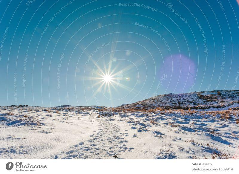 Natur Ferien & Urlaub & Reisen schön Sonne Landschaft Ferne Winter Berge u. Gebirge Schnee Freiheit Felsen Eis Tourismus wandern Schönes Wetter Abenteuer