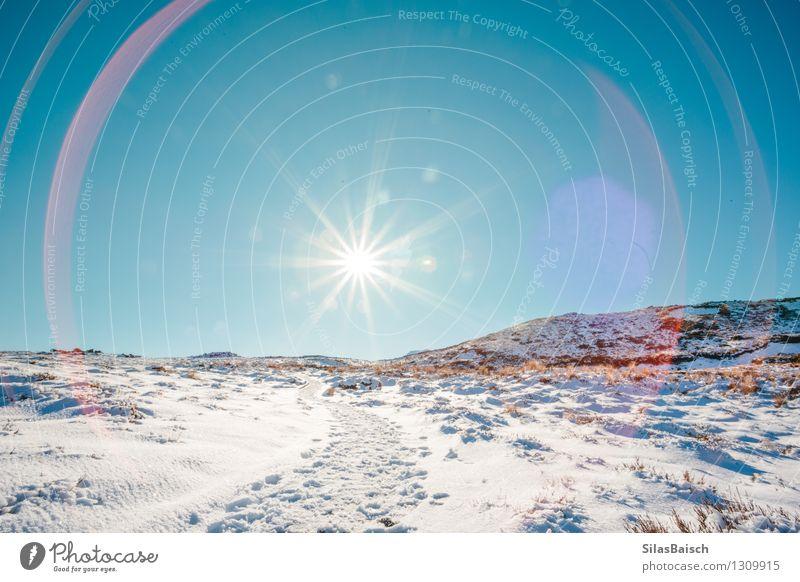 Natur Ferien & Urlaub & Reisen Sonne Landschaft Ferne Winter Berge u. Gebirge Schnee Freiheit Felsen Eis Tourismus wandern laufen Ausflug Schönes Wetter