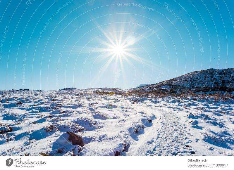 Natur Ferien & Urlaub & Reisen Sonne Landschaft Ferne Winter Berge u. Gebirge Schnee Freiheit Felsen Horizont Ausflug Schönes Wetter Abenteuer Alpen Schneebedeckte Gipfel