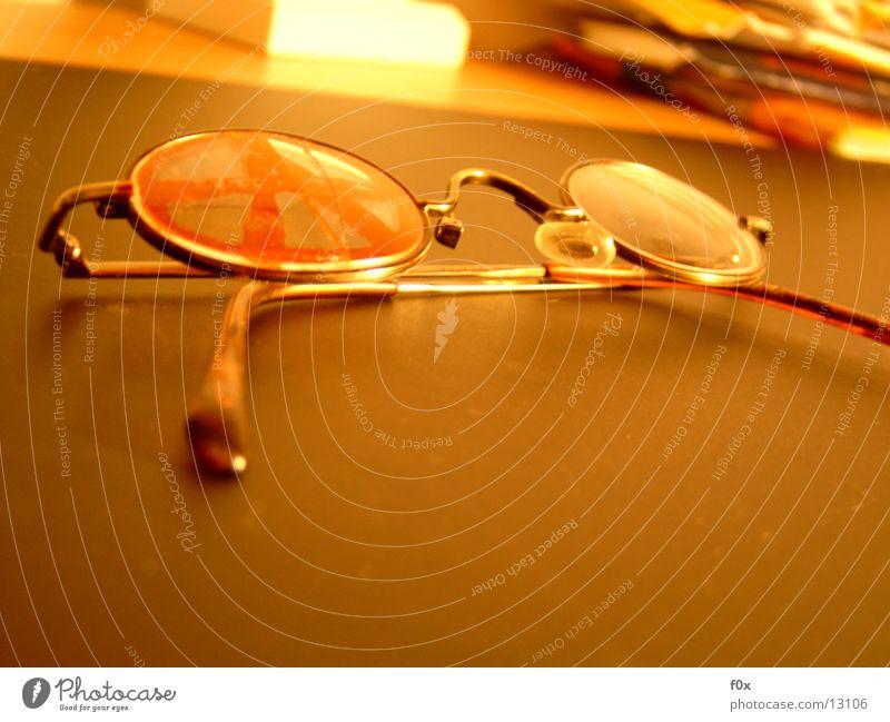 A Brille II Glas Dinge gebrochen Sehvermögen
