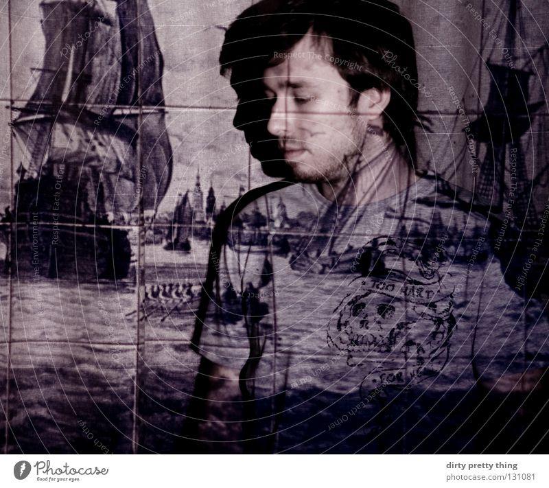 träum ich? Meer träumen Wasserfahrzeug schlafen Konzentration Dia Pirat Projektor