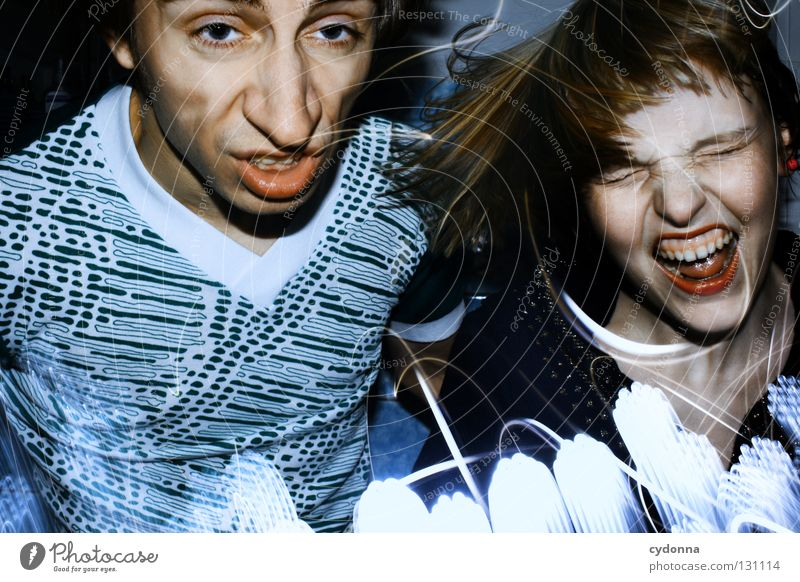Rock'n'Roll Will Never Die Frau Mensch Mann blau Freude Farbe Leben Gefühle Stil Party Bewegung Denken Erde Linie Paar Musik