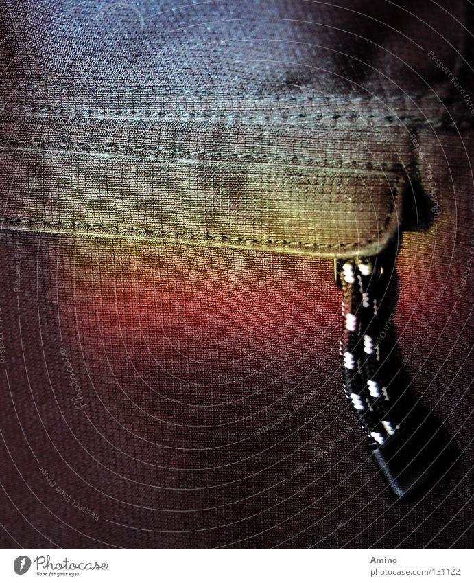 Farbesammlung blau rot schwarz gelb Linie Dinge Ladengeschäft Tasche Material Regenbogen tragen Textilien Fototechnik Verschluss