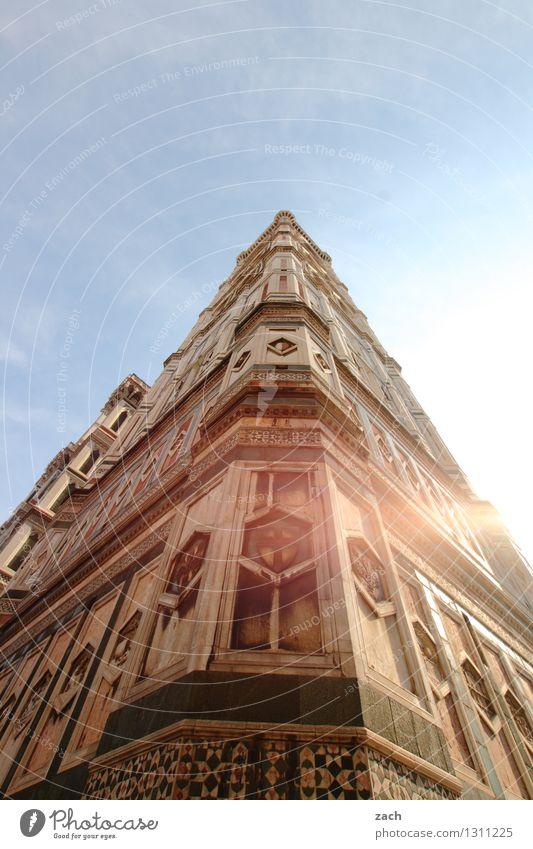 DomMinanz Städtereise Sommer Sommerurlaub Sonne Himmel Wolkenloser Himmel Florenz Italien Toskana Stadt Stadtzentrum Altstadt Kirche Palast Turm Bauwerk Gebäude