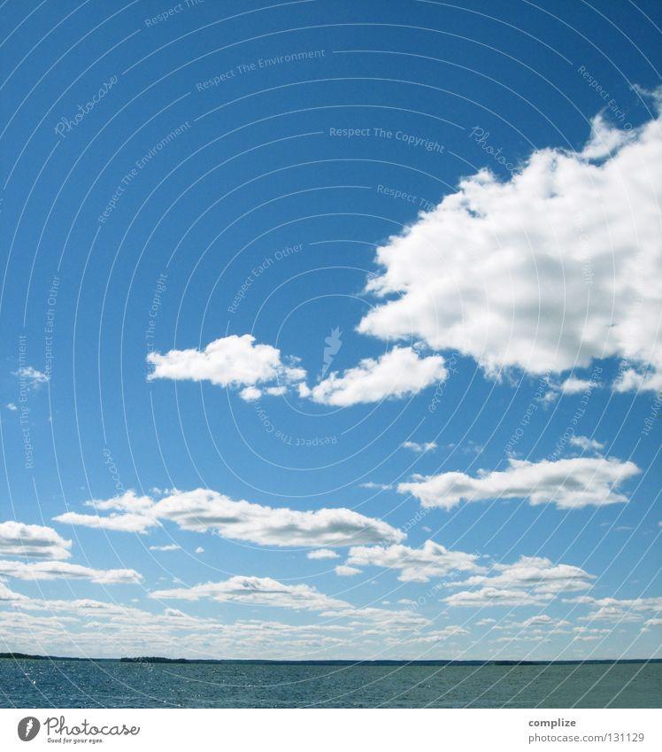 stay Himmel blau Wasser Ferien & Urlaub & Reisen Meer Sommer Strand Wolken Ferne Erholung Wärme Küste See Horizont Wasserfahrzeug Wellen
