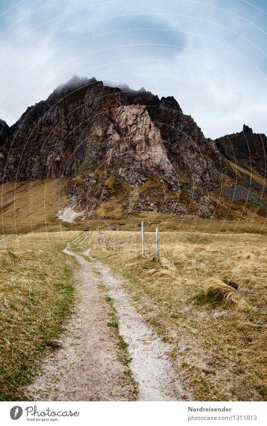 Vesterålen.... Ferien & Urlaub & Reisen Ausflug Ferne Freiheit wandern Natur Landschaft Urelemente Himmel Wolken Klima schlechtes Wetter Gras Felsen