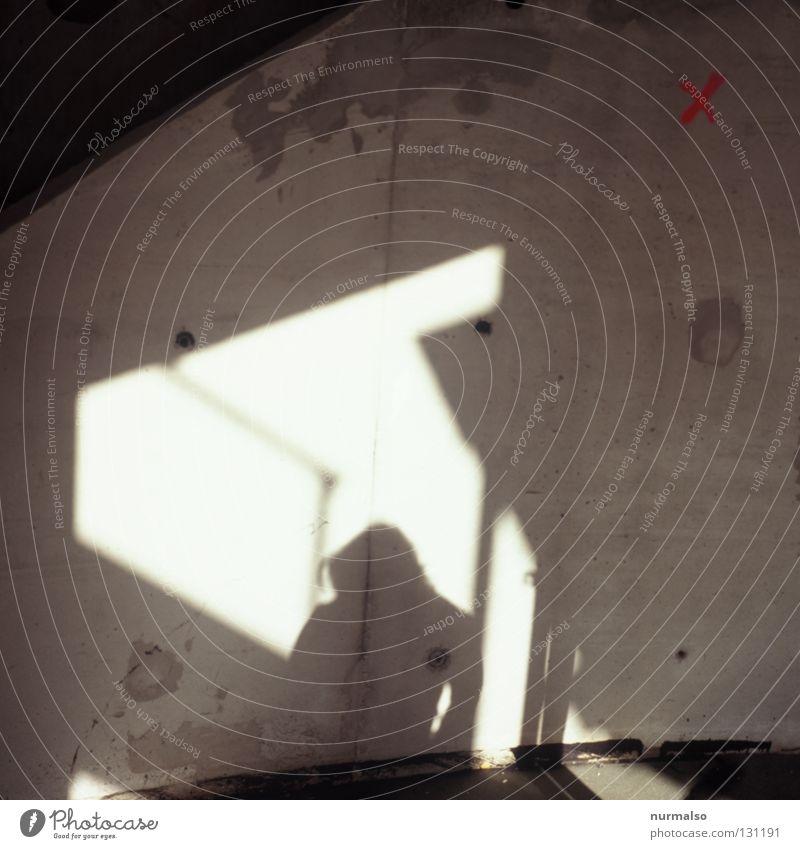 Morgensymmetrie Mensch schön Sonne Haus Wand Gefühle Architektur Stimmung Schilder & Markierungen Insel Beton Baustelle Bauwerk zeichnen Ei Symmetrie