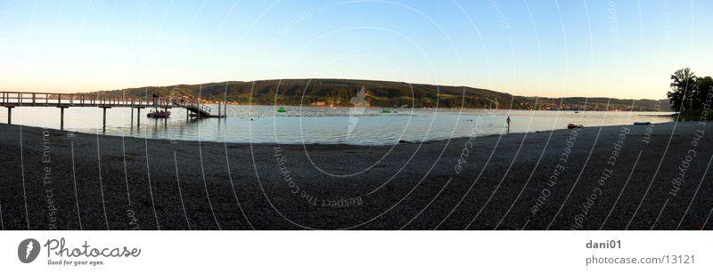 Strandbad Panorama Strand Ferien & Urlaub & Reisen See groß Bad Horn Panorama (Bildformat) Bodensee Badeort