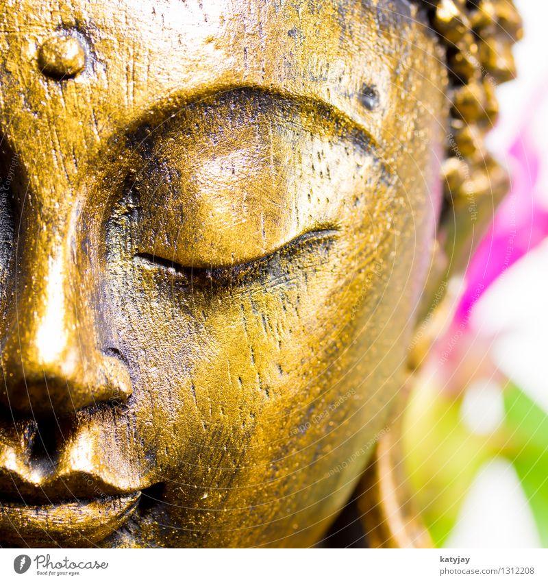Buddha Mensch Erholung ruhig Gesicht Religion & Glaube Kunst Kraft Körper gold Gold Kultur Wellness Verstand Frieden Asien