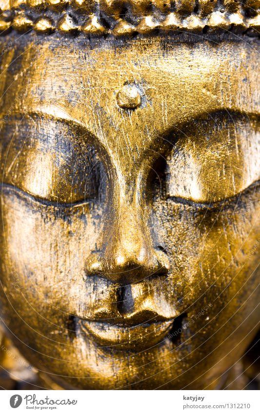 Buddha Mensch Erholung ruhig Gesicht Religion & Glaube Kunst Kopf Kraft Körper gold Gold Kultur Wellness Verstand Frieden