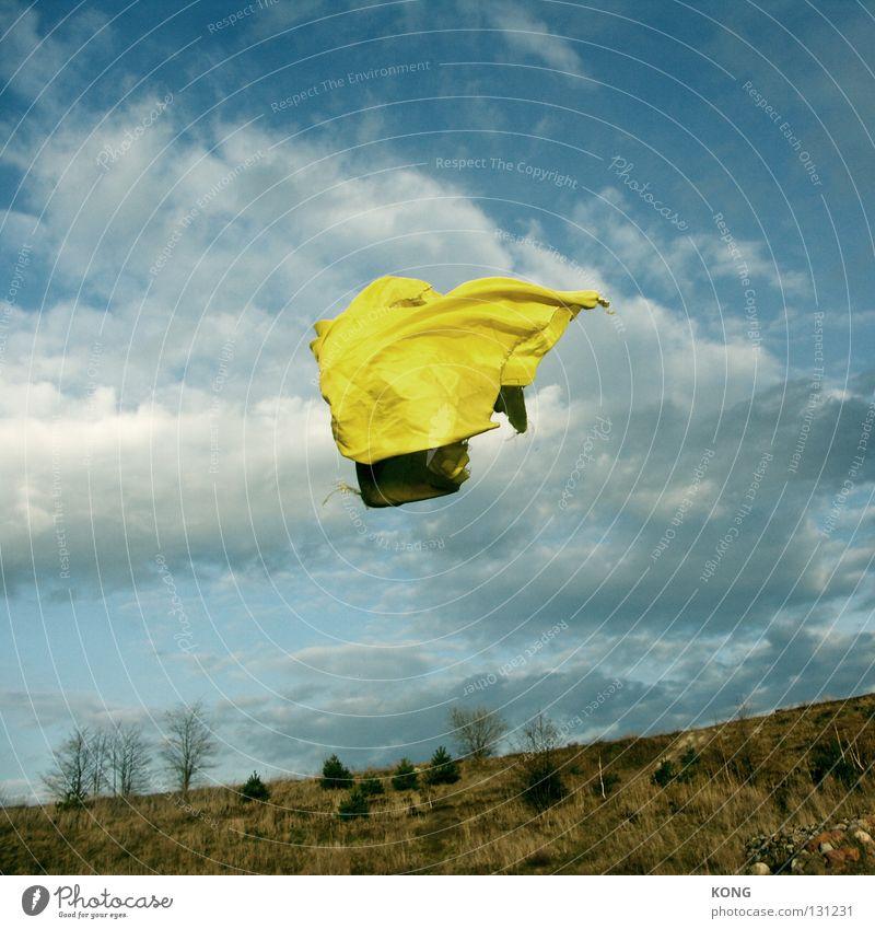leichter als luft schön Himmel Freude Wolken Luft Flugzeug Wetter fliegen Luftverkehr Stoff gefroren Geister u. Gespenster Surrealismus Schweben Tuch