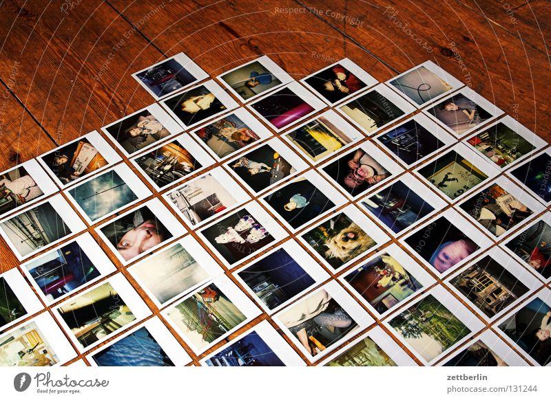 Polaroids Fotografie Sammlung mehrere Fototechnik Dinge archivierung Bild Reihe zile Spalte überblicken bildverwaltung Empore gallery familienalbum viele