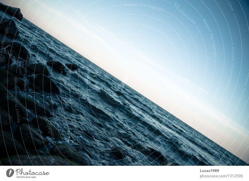 Meeresrauschen Himmel Natur Ferien & Urlaub & Reisen Wasser Meer Landschaft Strand Umwelt Küste Freiheit Stein Tourismus Wellen frei Perspektive Insel