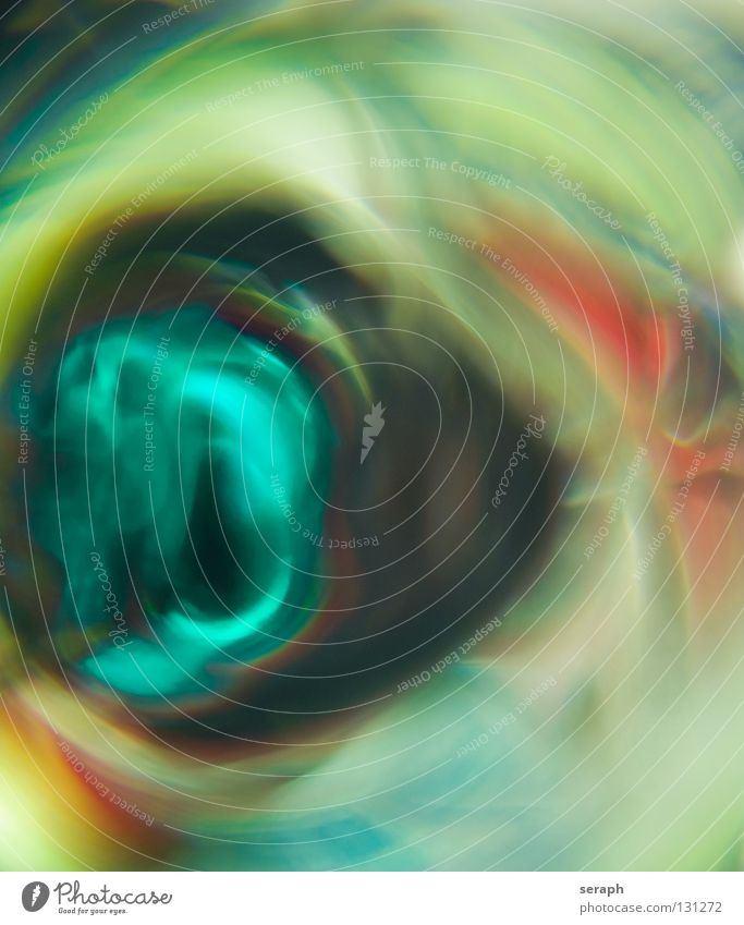 Psychedelisch Farbe Farbstoff mehrfarbig Kreis Schwache Tiefenschärfe Unschärfe erleuchten Beleuchtung glänzend Wasserwirbel Nebel Rauch Lichtpunkt Farbenspiel