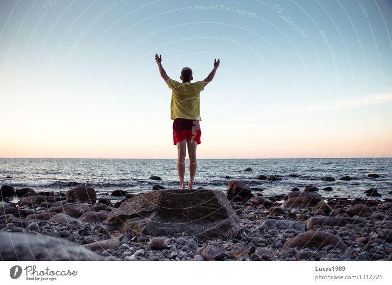 Das Meer genießen Ferien & Urlaub & Reisen Tourismus Ausflug Abenteuer Ferne Freiheit Kreuzfahrt Expedition Sommer Sommerurlaub Sonne Strand Insel Wellen