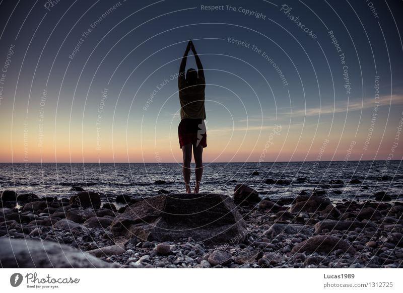 Sonnengruß Wellness harmonisch Wohlgefühl Zufriedenheit Erholung ruhig Meditation Ferien & Urlaub & Reisen Tourismus Sport Fitness Sport-Training Yoga Mensch