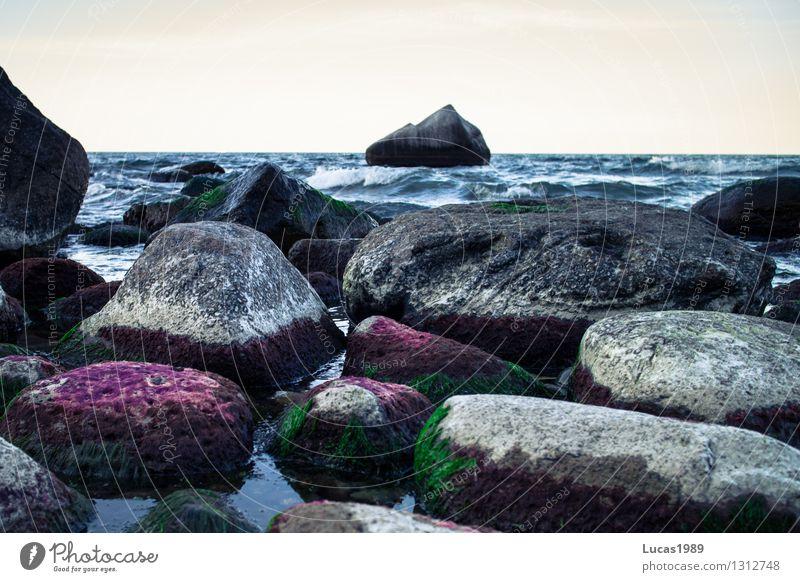 Steinmeer Himmel Natur Ferien & Urlaub & Reisen Sommer Wasser Erholung Meer Landschaft Ferne Strand Umwelt Küste Freiheit Sand Tourismus Wellen