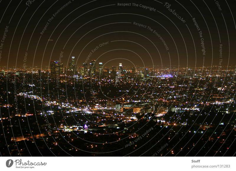 L.A. is burning! Amerika Los Angeles Nacht dunkel Stadt Stadtzentrum Hollywood Langzeitbelichtung USA Licht
