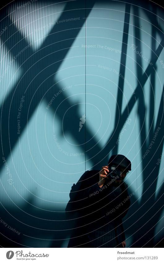 6x6 Mann Himmel blau Farbe Arbeit & Erwerbstätigkeit Wand springen Stil Glück Luft Linie Zufriedenheit Beleuchtung maskulin Geburtstag Suche