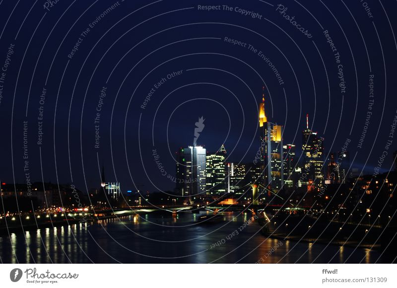 skyline Wasser Stadt Lampe Hochhaus Fluss Turm Skyline Frankfurt am Main