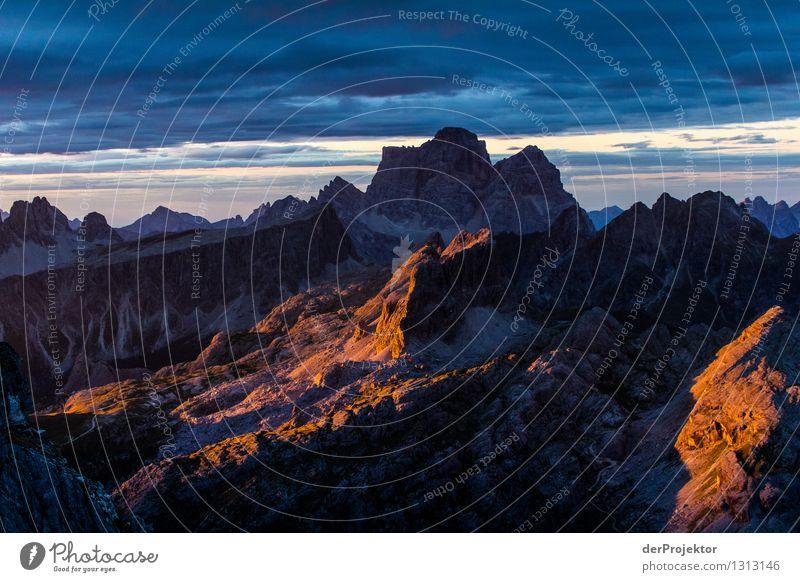Morgenstimmung in den Dolomiten Ferien & Urlaub & Reisen Tourismus Ausflug Abenteuer Ferne Freiheit Berge u. Gebirge wandern Umwelt Natur Landschaft Pflanze