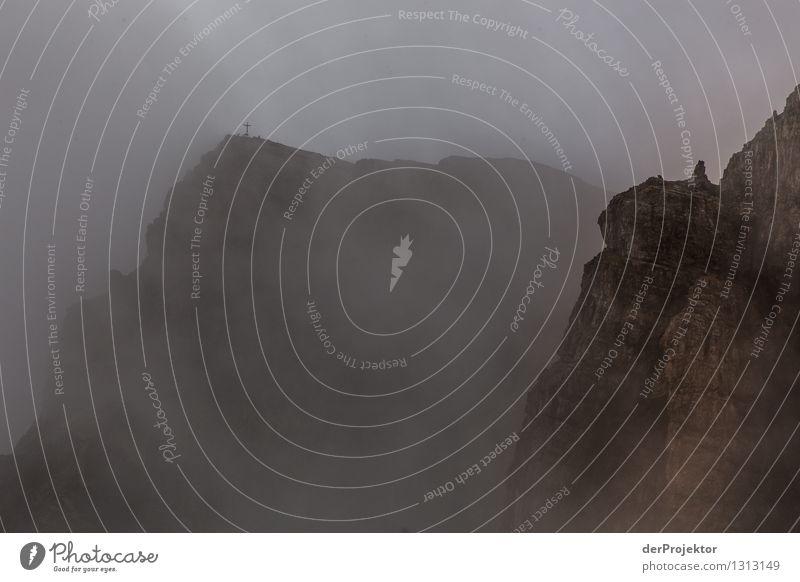 Gipfelkreuz im Nebel Natur Ferien & Urlaub & Reisen Pflanze Sommer Landschaft Tier Ferne Berge u. Gebirge Umwelt Freiheit Felsen träumen Tourismus Nebel wandern Abenteuer