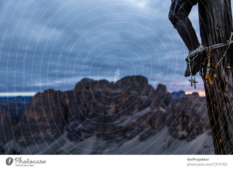 Christliches Panoramabild Natur Ferien & Urlaub & Reisen Pflanze Sommer Landschaft Ferne Berge u. Gebirge Umwelt Religion & Glaube Freiheit Tourismus wandern