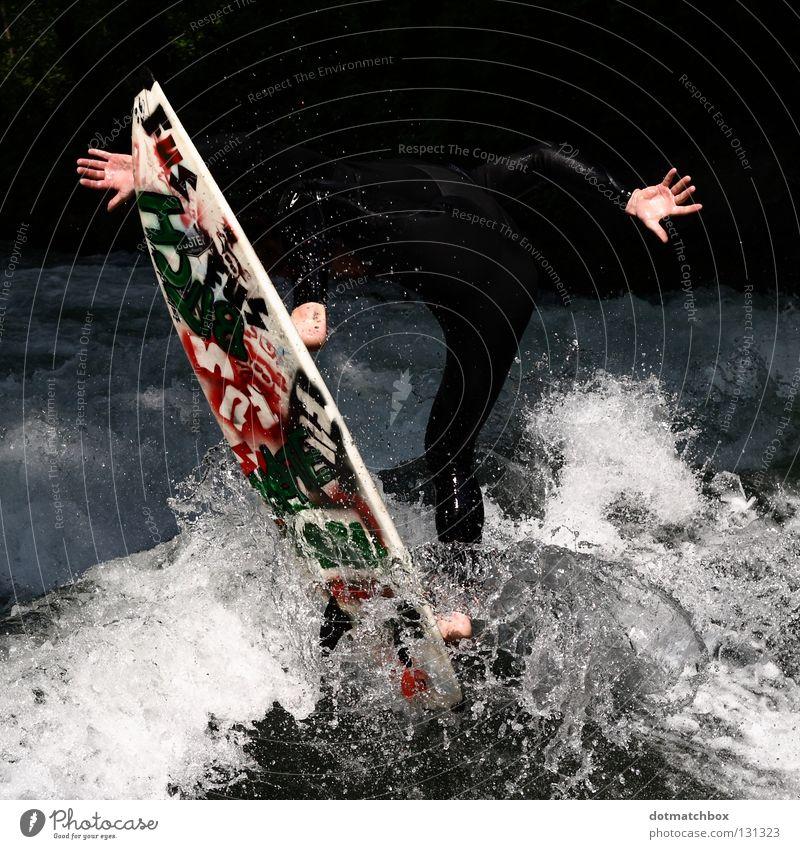 Anonymous Surfer² Hand Wassersport Sport Spielen Fuß anonym Extremitäten Surfen