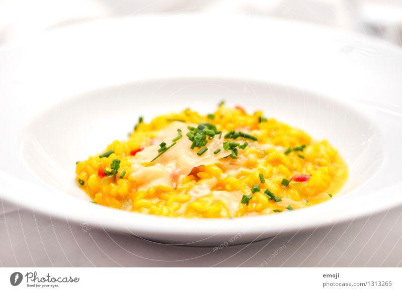 Risotto gelb Ernährung lecker Abendessen Vegetarische Ernährung Mittagessen Festessen