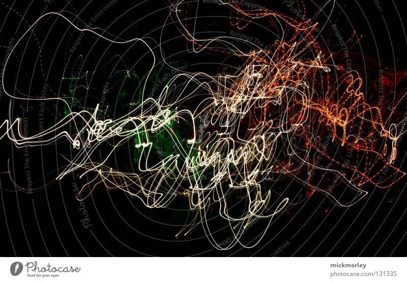 lichtspermien Langzeitbelichtung Belichtung Streifen chaotisch Gemälde Zeit durcheinander schwarz Hintergrundbild wackeln Weltall Linie warr unruhig
