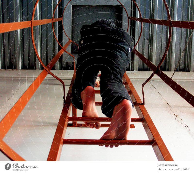 Ich will hoch hinaus! oben hoch Erfolg Klettern Konzentration entdecken Leiter Höhenangst Verbote forschen aufregend Wissenschaftler Schwindelgefühl Feuerleiter schwindelfrei