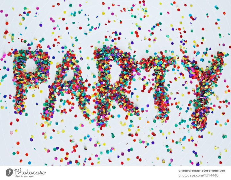 PARTY Kunst Party Schriftzeichen ästhetisch viele Typographie Konfetti Mosaik Partystimmung Gute Laune Partynacht Partyraum Partyservice