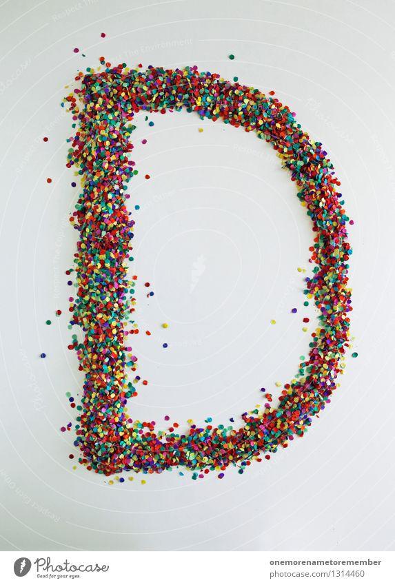 D wie: Dummkopf! Kunst Kunstwerk ästhetisch d Buchstaben Typographie Design Designwerkstatt Designmuseum Kreativität viele Konfetti Mosaik Farbfoto mehrfarbig
