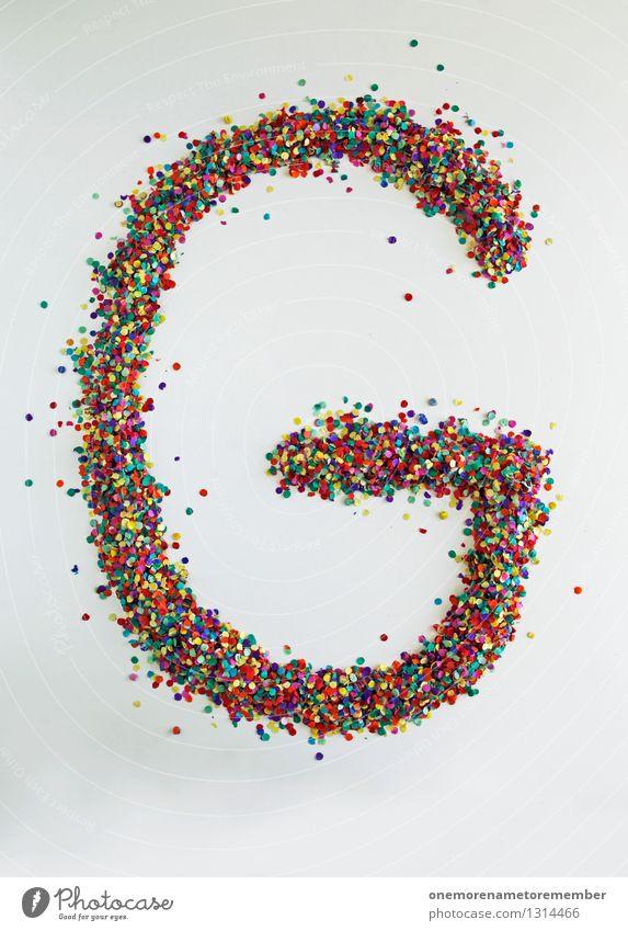 G wie: Punkt Kunst Kunstwerk ästhetisch Buchstaben Typographie Kreativität Design Designwerkstatt Designmuseum viele Konfetti mehrfarbig Glück Farbfoto