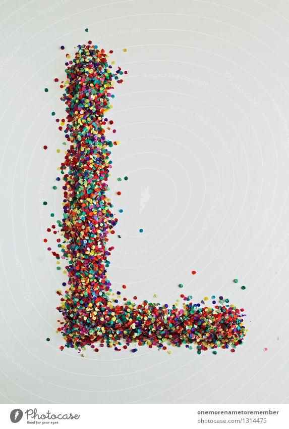 L wie: Looser! Kunst ästhetisch Buchstaben Typographie Design Designwerkstatt Designmuseum Kreativität viele Punkt Konfetti Mosaik Farbfoto mehrfarbig