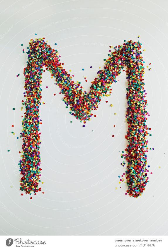 M wie: Mundgeblasen Kunst Design ästhetisch Kreativität Buchstaben Punkt Typographie Kunstwerk Konfetti gestalten Farbfleck Designwerkstatt