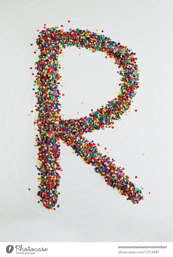 R wie: Retro Kunst Kunstwerk ästhetisch Buchstaben Typographie Konfetti Kreativität Design Designwerkstatt Designmuseum viele Farbfleck gestalten Farbfoto