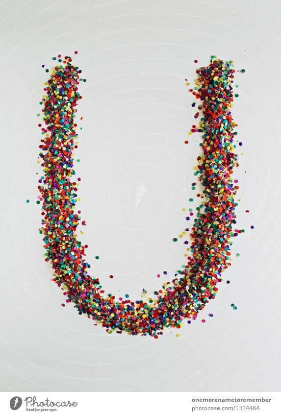U wie: Universum Kunst Kunstwerk ästhetisch Buchstaben Typographie mehrfarbig Kreativität Design Designwerkstatt Designmuseum Basteln Konfetti Farbfoto
