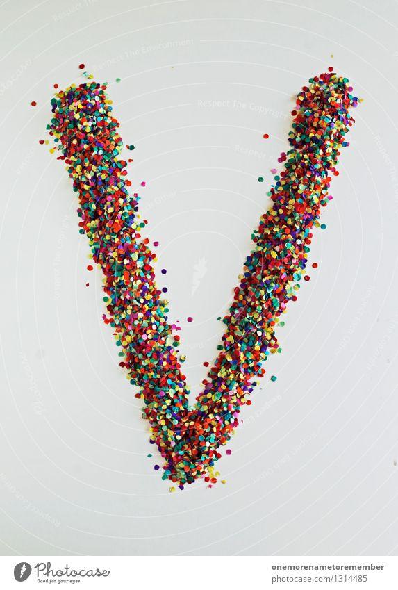 V wie: Vrieden Kunst ästhetisch Buchstaben Typographie Kreativität Design Designwerkstatt Designmuseum Konfetti gestalten viele Mosaik mehrfarbig Farbfoto